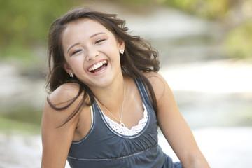 Smiling Asian American girl