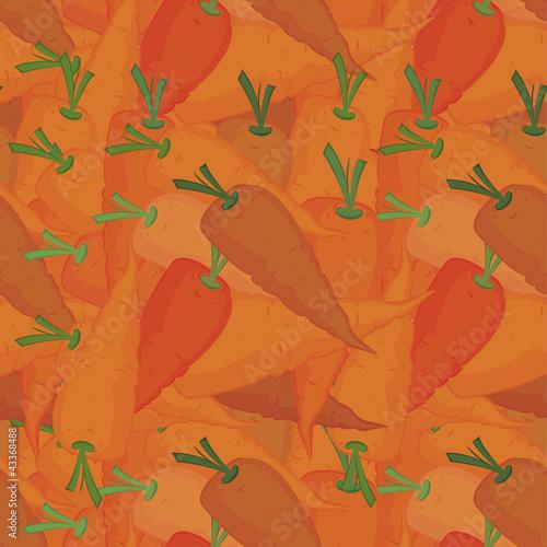 Orange carrots seamless pattern