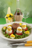 spirit boiled eggs made ​​with chicken meat