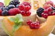 frutti di bosco con melone