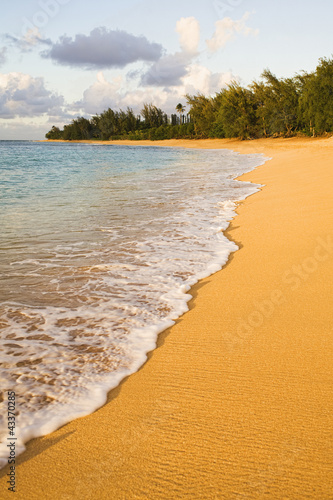 Tranquil remote beach