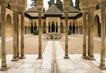 Pillared portico surrounding courtyard
