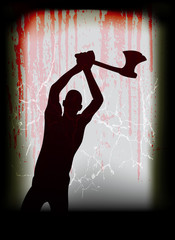 The Axe Man Cometh - Halloween Poster