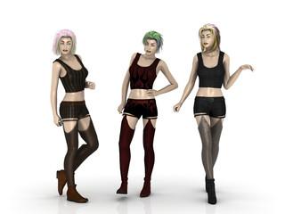 3 Mannequins