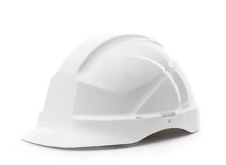 White hard hat, isolated on white