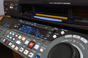 Professional video recorder . Digital Betacam format