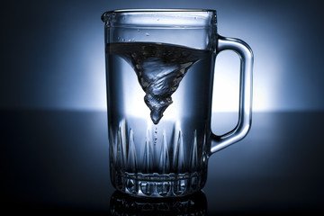 vortex in a pitcher of water