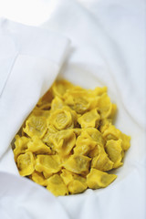 Close up of handmade agnolotti