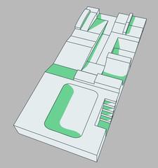 skatepark vector illustration