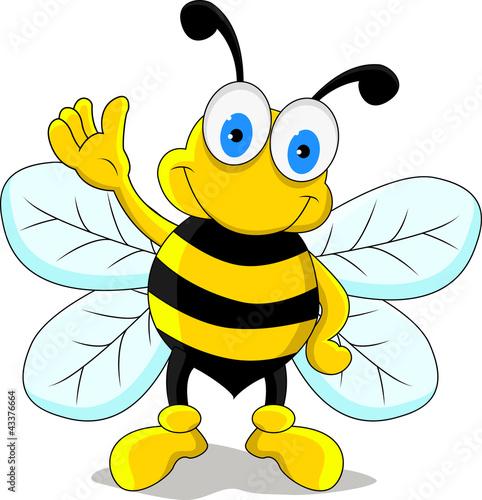 Zdjęcia na płótnie, fototapety na wymiar, obrazy na ścianę : funny bee cartoon character