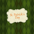 Saint Patrick's Day Card Design Template. Vector, EPS10
