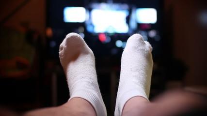 Feet Up Watching TV