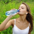 beauty girl drink water