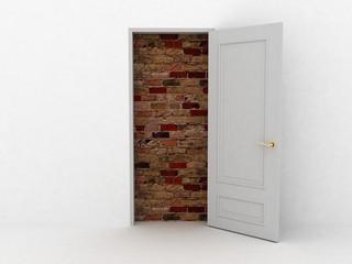 Doors laid bricks