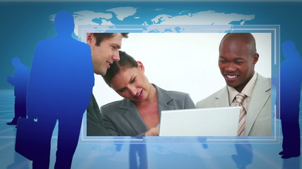 Videos of business people working together