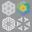 4 polygonal ornaments
