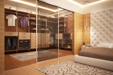 Exclusive wardrobe in bedroom