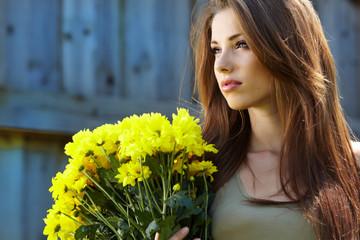 young beautiful smiling woman outdoors