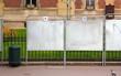panneaux électoraux en ville