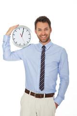 junger mann mit Uhr