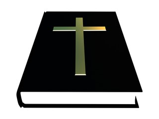 The bible and the golden cross