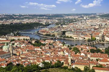 Praga, veduta aerea