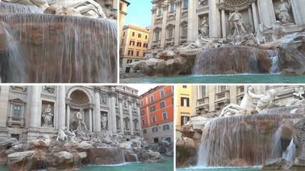 fontana di trevi collage