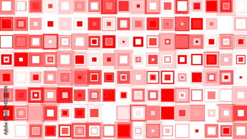 Whole frame is filled with Red squares changing size.