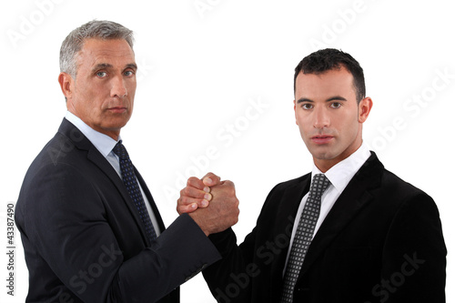 Businessmen forming a pact