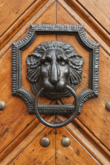 old style lion's head knocker