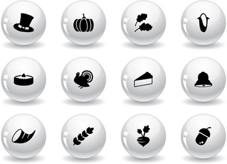 Web buttons, thanksgiving icons