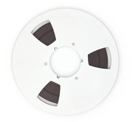 Open Reel Tape Quarter Inch Tape on white background