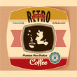 Retro Vintage Coffee Label Background