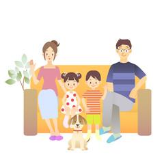 夫婦 家庭 家族 子供 イラスト