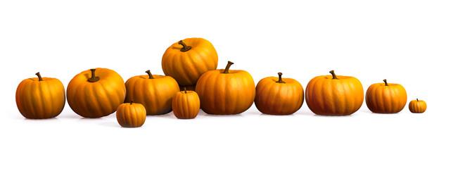 Línea de calabazas / row of pumpkins