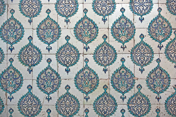 Tiled wall in Harem of Topkapi Palace
