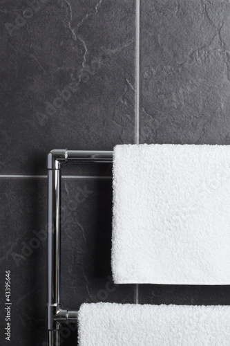 Towel rail in bathroom