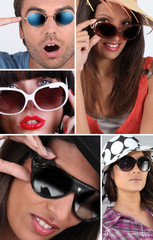 People wearing sunglasses