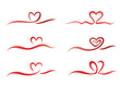 heart ribbon set