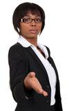 Afro-American businesswoman handshaking