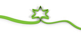 star ribbon green