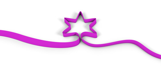 star ribbon pink