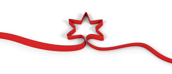 star ribbon red