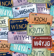 Seamless Background - Retro Auto License Plates