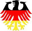 Bundesadler schwarz-rot-gold