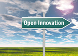 "Signpost ""Open Innovation"""
