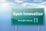 "Highway Signpost ""Open Innovation"""