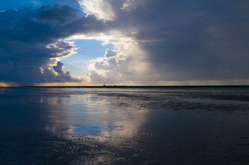 Cloudscape above the Wadden Sea