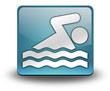 "Light Blue 3D Effect Icon ""Swimming"""