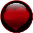 Button Herz dunkel